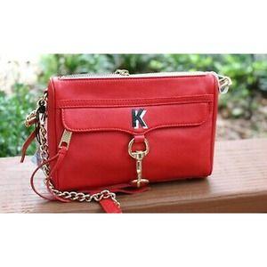 Rebecca Minkoff NEW crossbody Mini Mac red purse